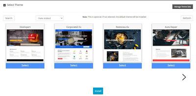 WordPress Default Theme Selection