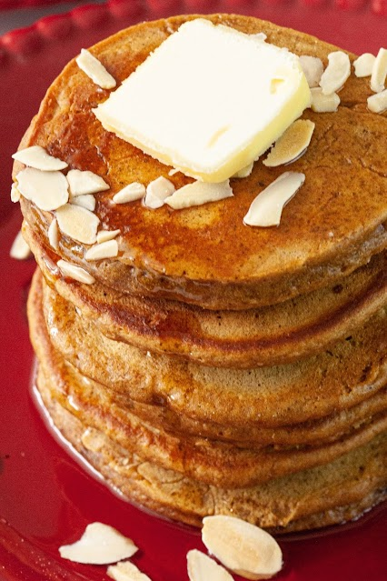 Pancake stack with butter on top
