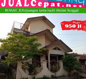rumah 3 lantai di daerah setia budi medan sunggal (Jl.Perjuangan) <del>Rp 1.000.000.000,-</del> <price>Rp 950.000.000,-</price> <code>MH1</code>