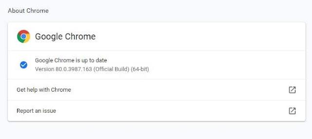 تحديث متصفح جوجل كروم لحل مشكلة توقفه عن العمل