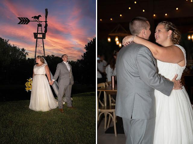 Bride and Groom sunset portraits Magnolia Manor Wedding Photos by Stuart Wedding Photographer Heather Houghton Photography