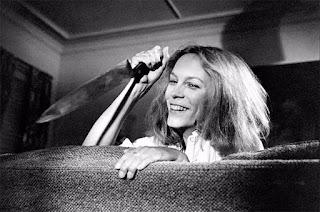 Jamie Lee Curtis durante el rodaje de Halloween - 1978