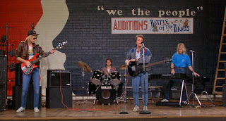 Marty McFly and the Pinheads at the Battle of the Bands.