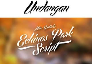 Download 40+ Font Latin Keren Untuk Desain Undangan Pernikahan, Echinos Park Script