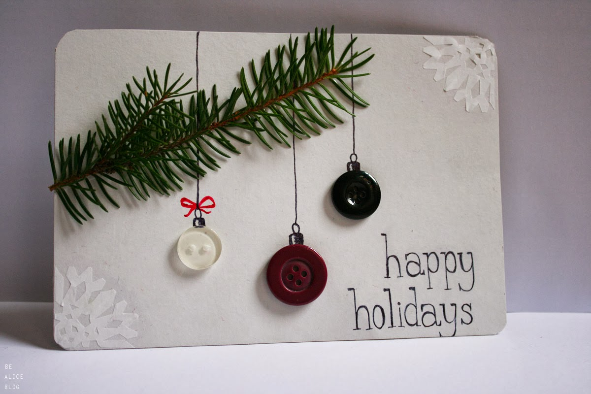 DIY Christmas Cards + Earrings