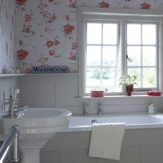 Quem disse que nao pode usar papel de parede em banheiro for Bathroom design simulator
