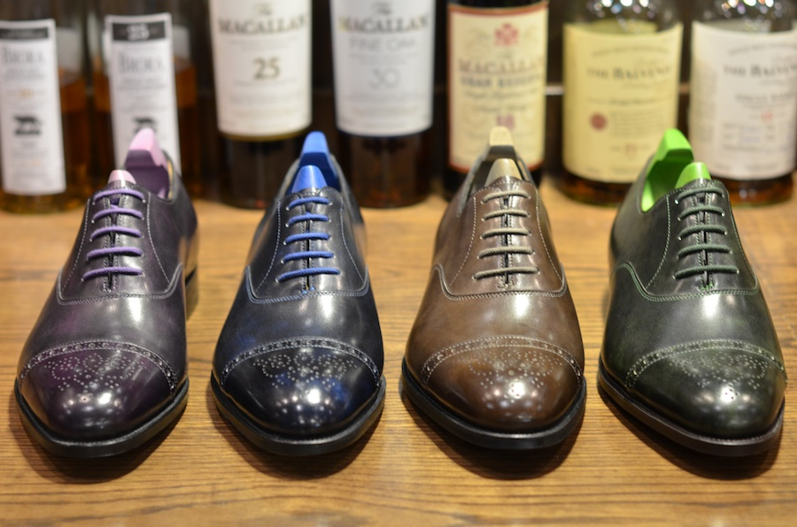 bdd9eaa94701 John Lobb x Paul Smith Westbourne punched cap toe Oxfords in stunning  colours