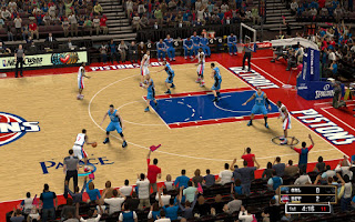 NBA 2K13 Detroit Pistons Court Patch