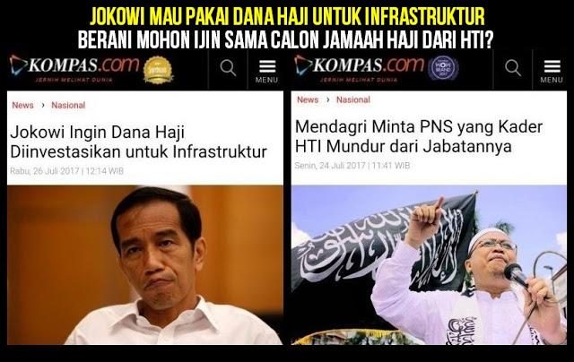 Jokowi Mau Pakai Dana Haji untuk Infrastruktur, Berani Mohon Ijin Sama Calon Jamaah Haji dari HTI?