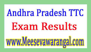 Directorate of Govt Andhra Pradesh TTC Sep 2016 Exam Results