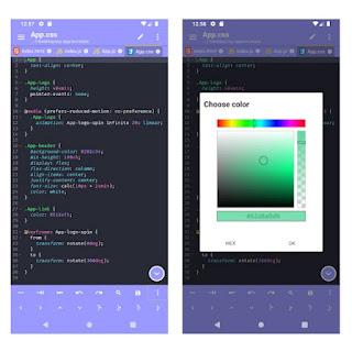 Acode Aplikasi kode editor Android
