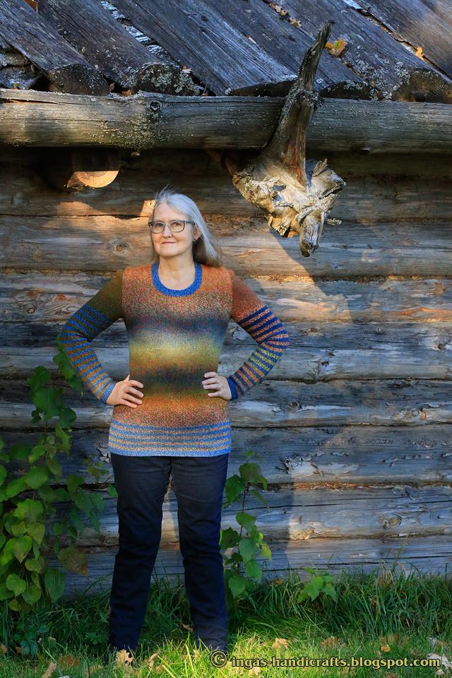 Kirjust lõngast sviiter / Variegated Yarn Sweater