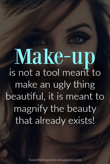 100 Quotes on beauty, make up & cosmetics. | Heartfelt Love ...