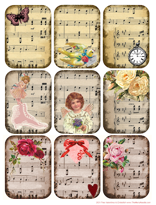 free Victorian valentines valentine's cards tags to print out