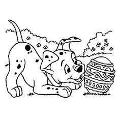 Dogs coloring pages 4