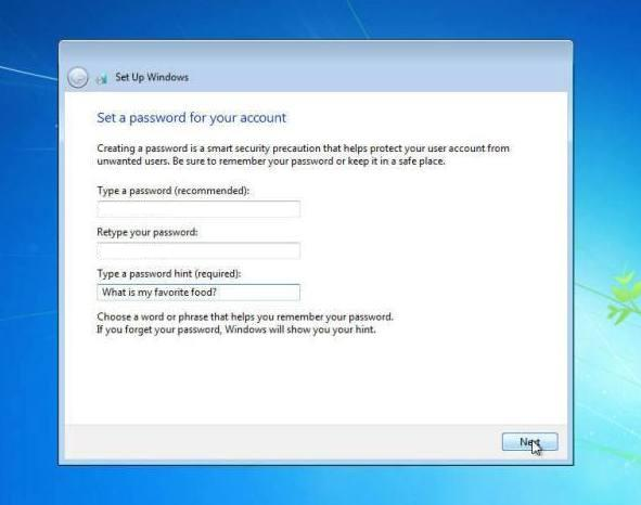 cara instal windows 7 memasukan password