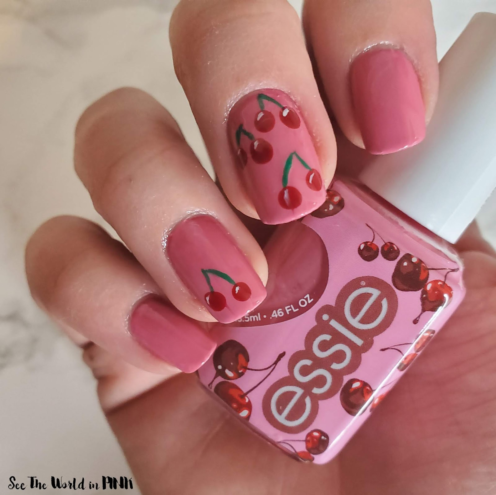 Manicure Monday - Cherry Nail Art