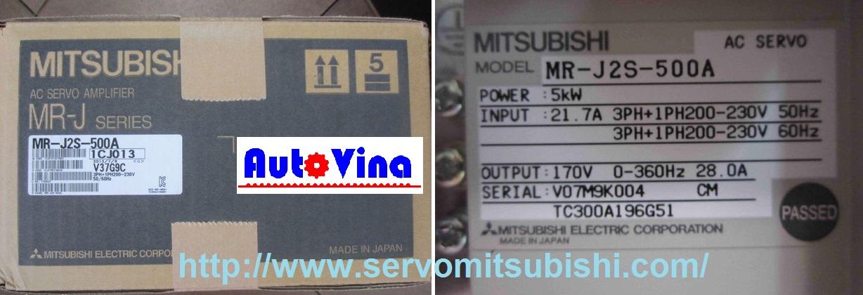 Nhà phân phối thiết bị tự động hóa Mitsubishi Drive Amplifier MelServo Mitsubishi 5000W MR-J2S-500A