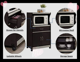 8 Best microwave cart with storage for your perfect kitchen