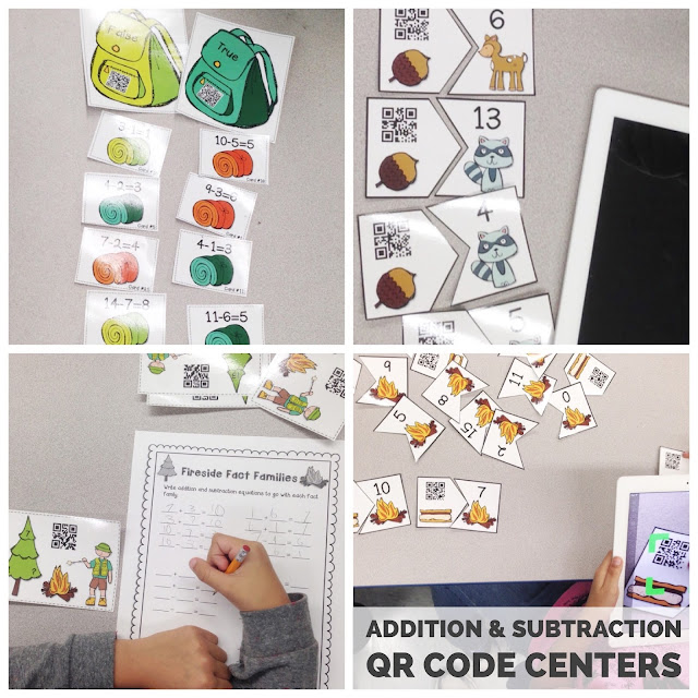 Addition and Subtraction QR Code Centers