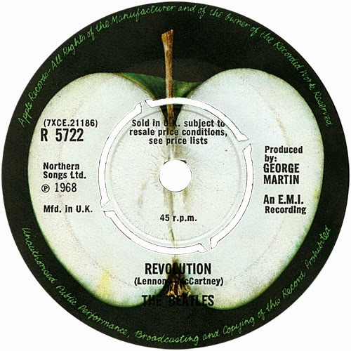 For The B Side A Sliced Apple Was Used