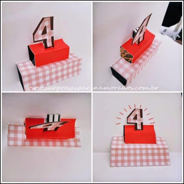 cartão bolo de aniversário 3D