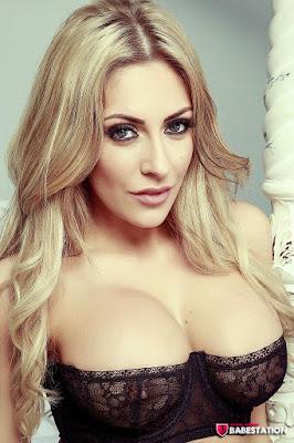 Ashley Emma big boobs black bra closeup shot