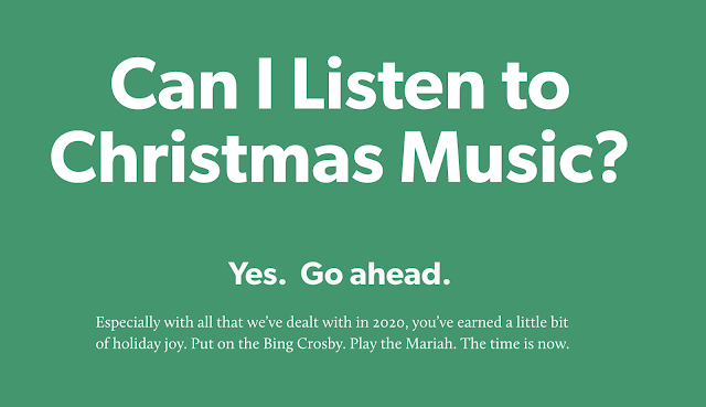 Can I listen to Christmas music on November 1st?