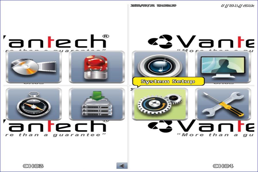 Chỉnh thời gian trong đầu ghi Vantech