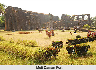Moti Daman Fort in Daman City