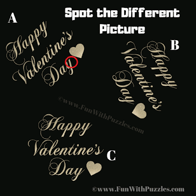 Answer of Odd One Out Valentine Day Puzzle for Teens