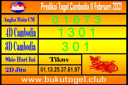 Prediksi Cambodia 11 Februari 2021