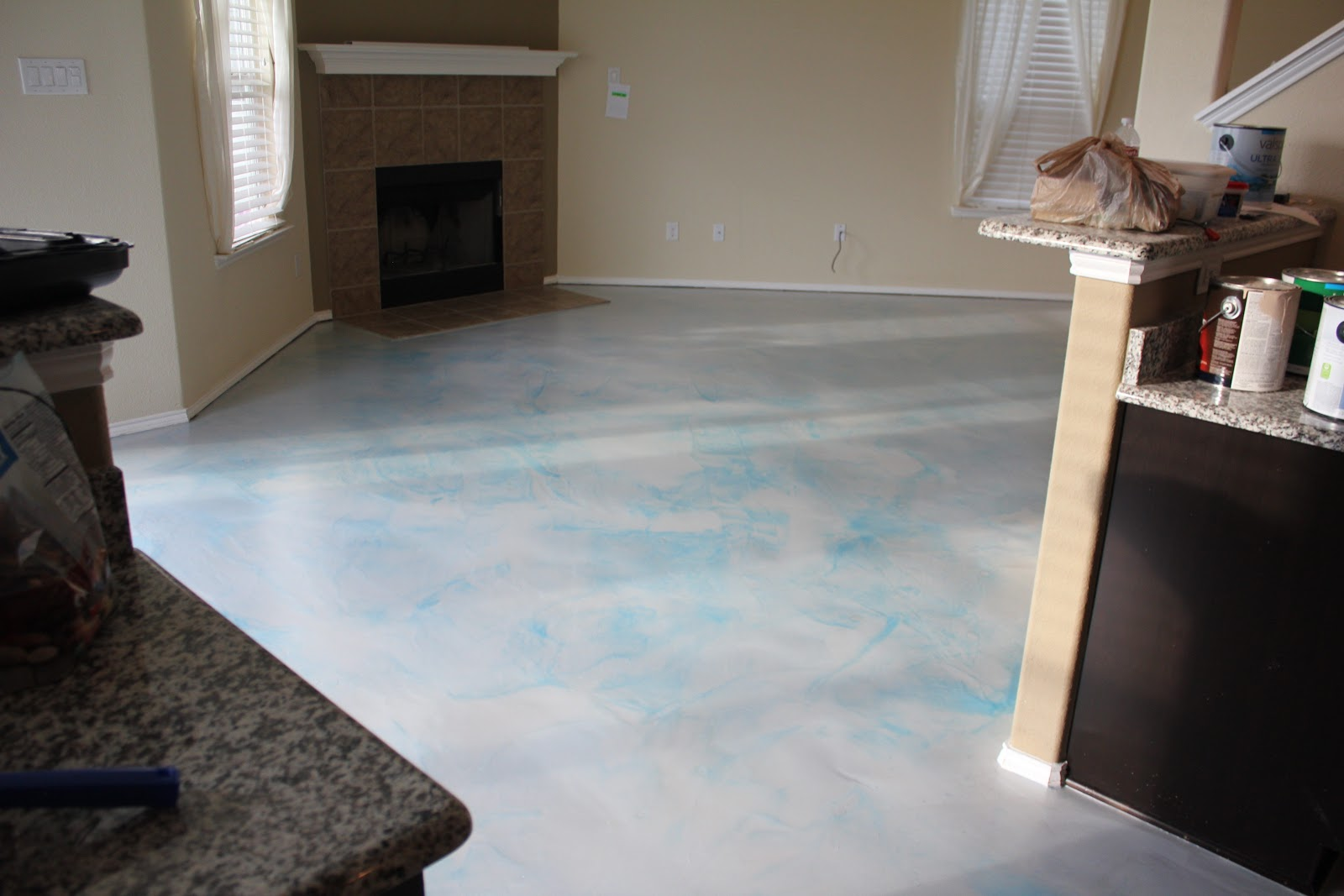epoxy floor coatings: metallic epoxy in a house - aubrey, texas