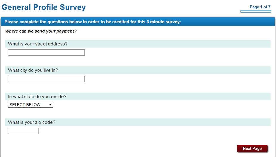 An example for survey - Send earnings