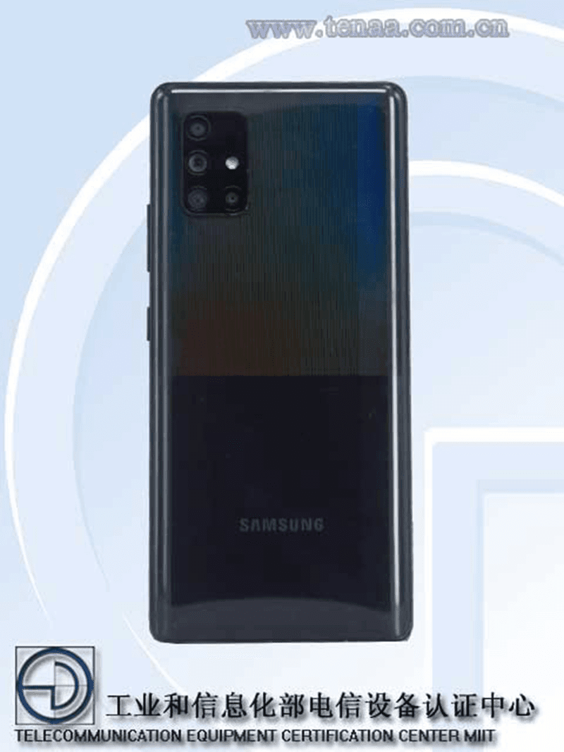 Samsung Galaxy A71 5G in the works, now listed on TENAA