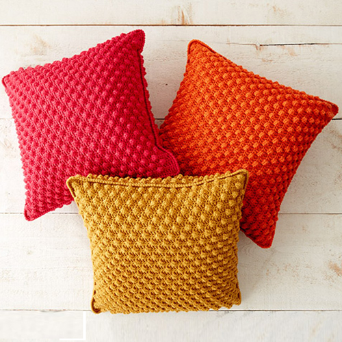 Bobble-licious Pillows - Free Pattern