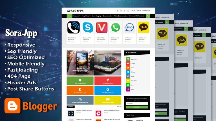 Sora App Premium Responsive Blogger Template
