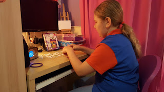 Top Ender working on her Ravensburger Funky Owls Girls 3D Puzzle Range