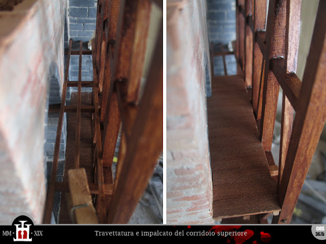 Travettatura e impalcato del corridoio superiore