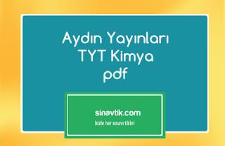 Aydın Yayınları TYT Kimya pdf