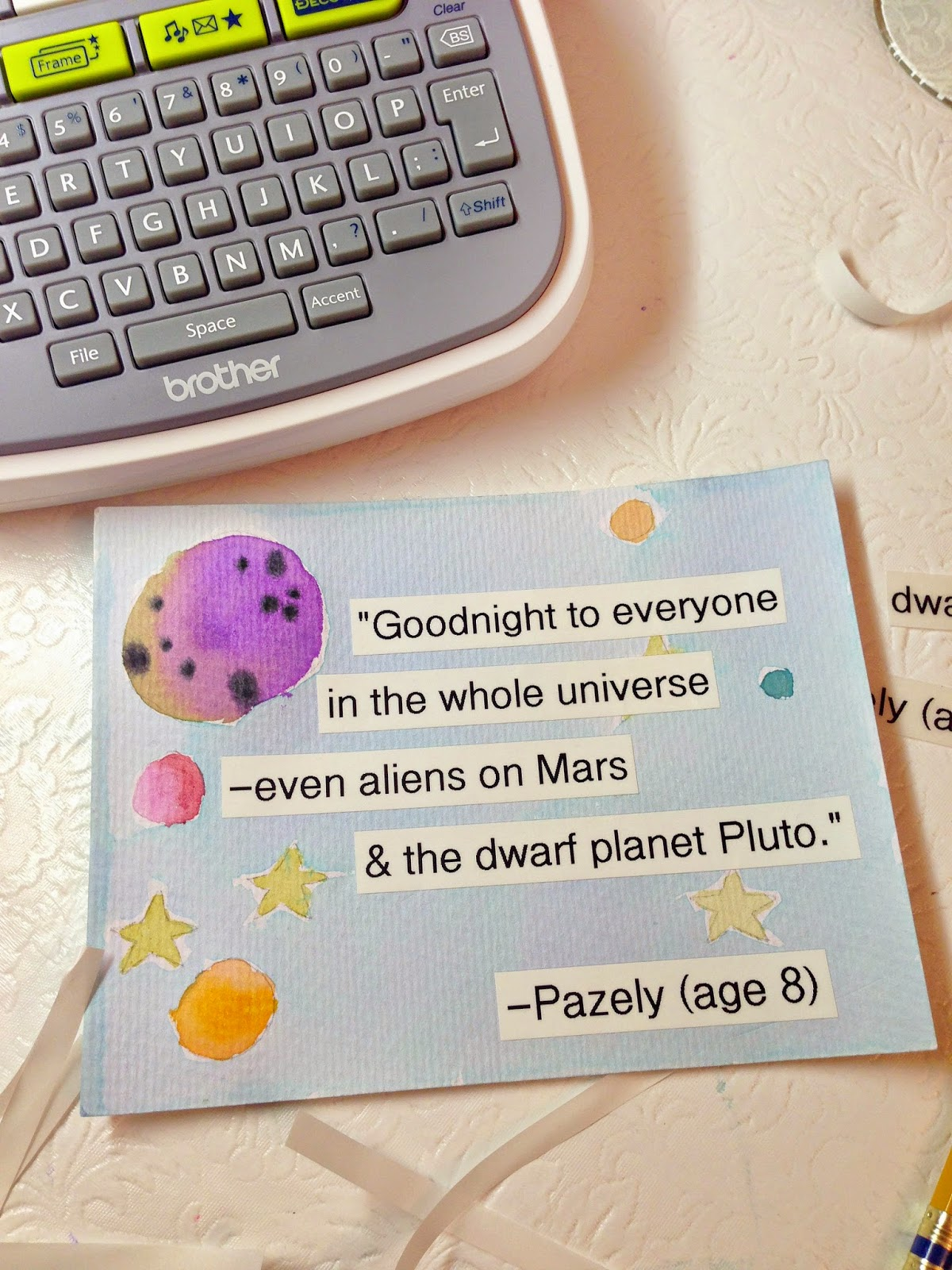 WhiMSy love: DIY: Label Quote Art with Brother P-Touch Label