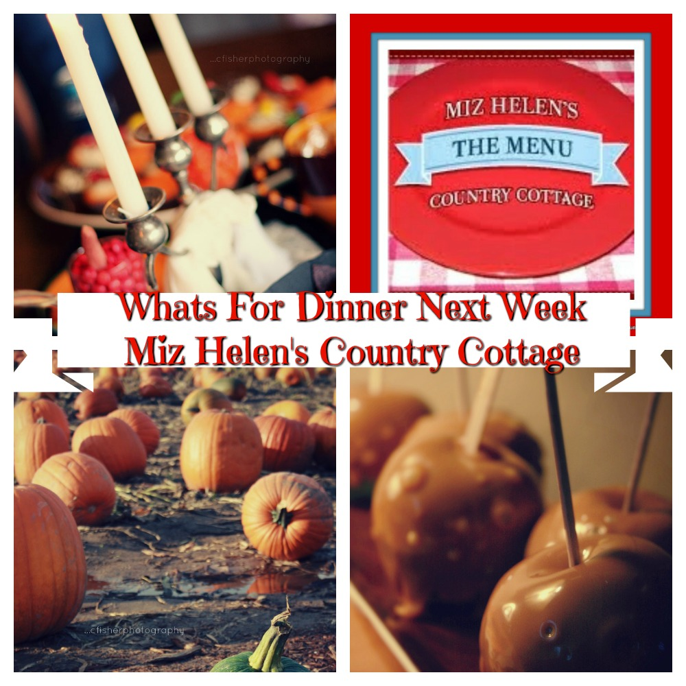 Whats For Dinner Next Week * Week of 10-18-20