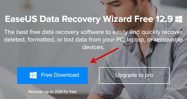 تنزيل EaseUS معالج استعادة البيانات