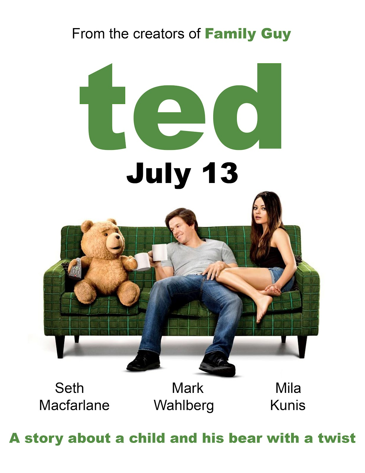 Ted 2012 Hindi Dual Audio 430MB BluRay 480p ESubs