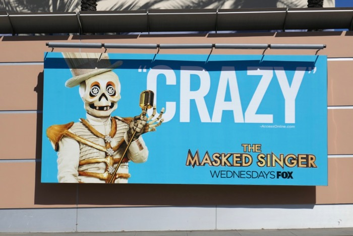Masked Singer season 2 Skeleton billboard