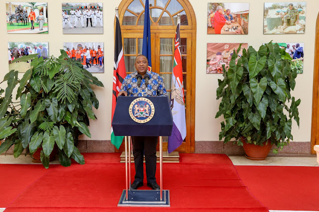 President Uhuru Kenyatta at Statehouse