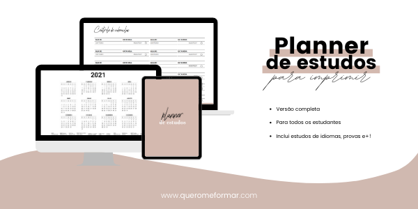 Planner de Estudos para Fazer Download e Imprimir | Completo 2021
