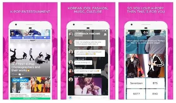 kpop amino, aplikasi untuk saling terhubung dengan fans kpop lain di seluruh dunia