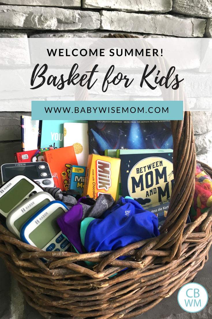 What to Put in a Welcome to Summer Gift Basket for Your Kids. Great items to give your kids to kick off summer.