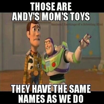 Andy's moms toys